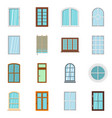 plastic window forms icons set in flat style vector image vector image