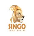 polygonal lion logo vector image vector image