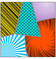 pop art style colorful composition vector image vector image