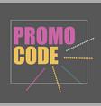 promo code coupon code flat banner design vector image
