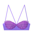 purple woman glamour bra isolated on white vector image
