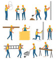 repairer and building zone man builder vector image vector image