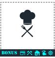 Restaurant menu icon flat vector image vector image