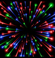 rgb space art color ray energy black background vector image