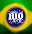 Rio De Janeiro Design vector image vector image