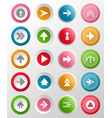 round buttons with arrow symbols vector image vector image