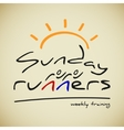 Runners logo vector image vector image
