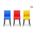 set modern chairs vector image vector image
