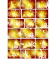 Set of golden Christmas backgrounds vector image