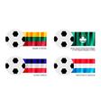 Soccer Ball of Lithuania Macao Los Altos vector image vector image
