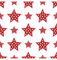 stars red decorative modern print wallpaper vector image vector image