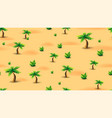 summer seamless texture with palm trees and vector image