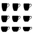 tea cup shape set cups classic shape vector image