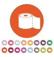 The toilet paper icon Bathroom symbol Flat vector image vector image