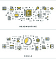 Thin Line Headhunting and Skills Concepts for vector image vector image