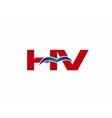 V and H logo vector image vector image