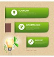 Website template design ecology background vector image vector image