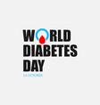 world diabetes day image design vector image