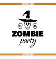 Zombie Party Skulls Badge vector image
