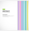 abstract vertical line pastel color retro style vector image