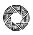 aperture icon doodle hand drawn or black outline