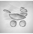 baby buggy icon vector image vector image
