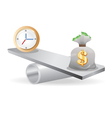 Balance between Time And money vector image vector image