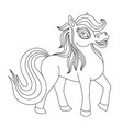 beautiful cute pony vector image vector image