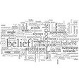 belief designed for life vector image vector image