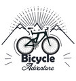 bicycle adventure seal icon vector image