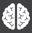 brain glyph icon medicine and healthcare vector image