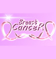 breast cancer awareness ribbon background - file vector image vector image