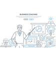 Business coaching - modern line design style web
