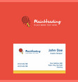 candy logo design with business card template vector image vector image
