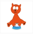 Cat With Bowl vector image