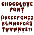 chocolate font vector image vector image