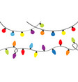 christmas lights holiday festive xmas decoration vector image