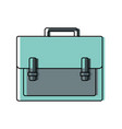color briefcase object to save documents paper vector image vector image