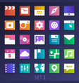 colorful flat square icons-set 1 vector image vector image