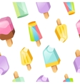 Colorful ice cream collection seamless vector image vector image