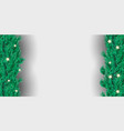 creative winter christmas border with fir vector image