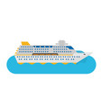 cruise ship isolated in flat style vector image vector image