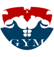 design for gym vector image vector image