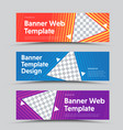 design horizontal banners with a triangular vector image vector image