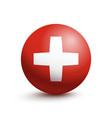 flag of switzerland in the form of a ball vector image