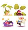 freelance work cartoon concept vector image