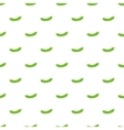 Fresh green peas pattern cartoon style vector image