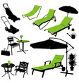 furniture silhouettes vector image