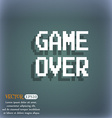 Game over concept icon On the blue-green abstract vector image