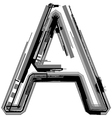 Grunge font Letter A vector image vector image